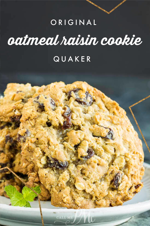 Original Quaker Oatmeal Raisin Cookie Recipe Call Me Pmc