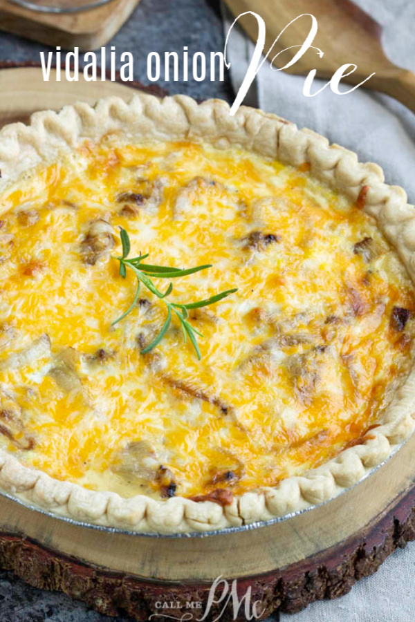 This savory Vidalia Onion Pie Recipe has layers of onions, milk, eggs, and cheese. This classic Southern recipe has a nice mild onion flavor and makes a delicious side dish. #vidaliaonion #onions #onionpie #pie #recipe #easy #sidedish