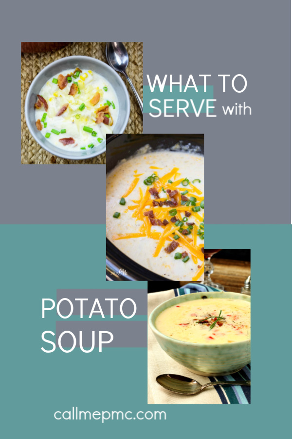What to Serve with Potato Soup... If you think the only thing you can serve with potato soup is cheese, bacon, and a side of bread. #soup #recipes #ideas #serve #recipes #meals #breads #sandwiches #salads #friends #meat #comfortfood