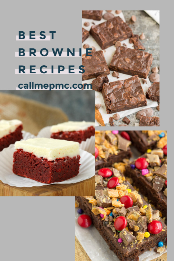 Best Brownie Recipes for Every Occasion is the perfect brownie roundup collection on Call Me PMc and perfect for chocolate lovers. #brownies #chocolate #fudge #easy #homemade #espresso #chocolatechip #recipe #boxed #fromscratch #withfrosting via @pmctunejones