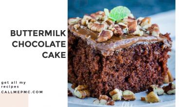 HOMEMADE BUTTERMILK CHOCOLATE CAKE