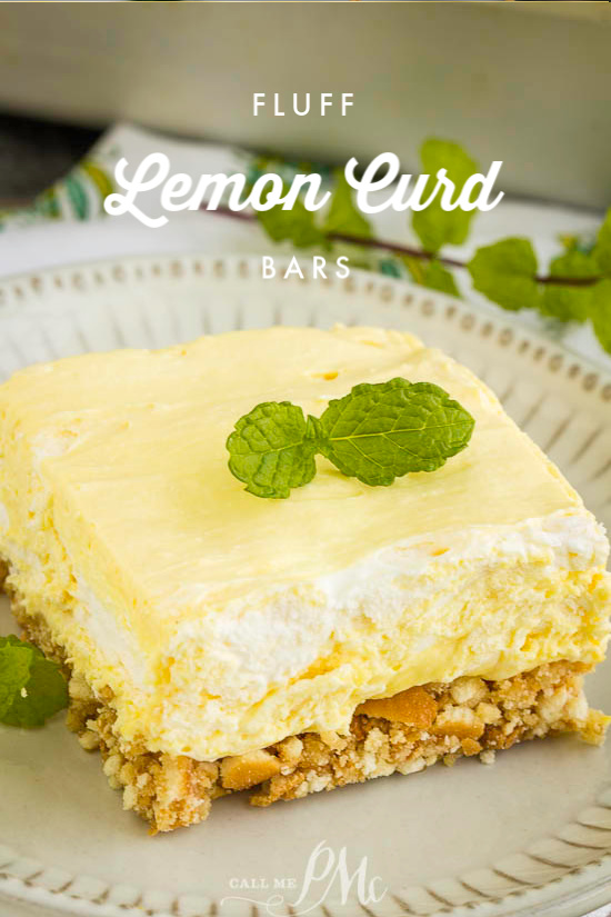 Lemon Curd Fluff Bars have a vanilla wafer crust topped with a tart and sweet lemon filling topped. These are unbelievably delicious. #lemon #dessert #recipe #easy #nillawafers #lemoncurd #coolwhip #callmepmc #salad #jello via @pmctunejones