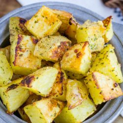 Roasted Garlic Ranch Potatoes #roasted #potato #recipe #ranch #seasoning #garlic #baked