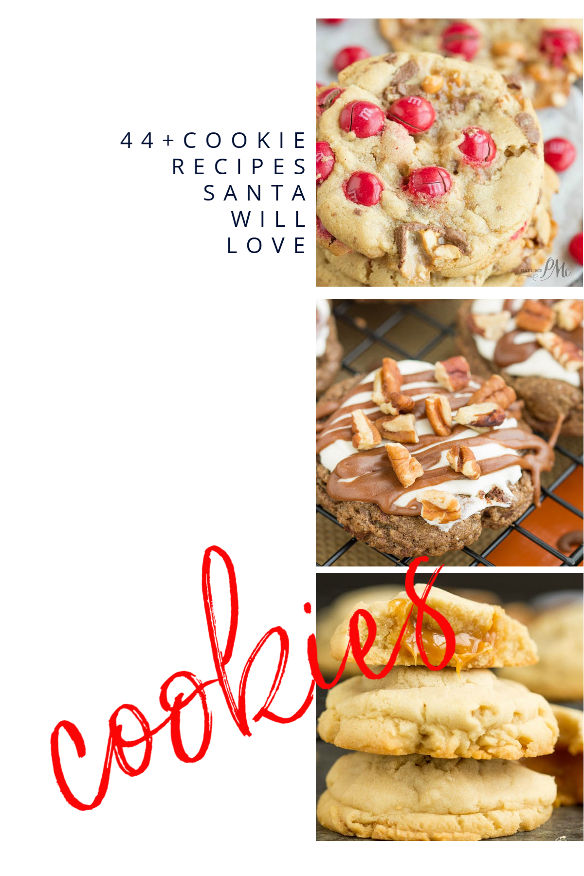 Cookie Recipes Santa will Love, the best collection of Santa's and everyone's favorite cookie recipes. Easy and fun to make and delicious to eat! #cookies #Christmascookies #cookieexchange #cookieparty #dessert #baking #easy via @pmctunejones