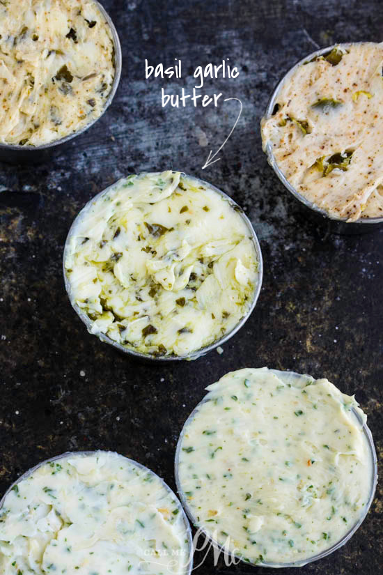 Basil Garlic Butter. Fresh basil and minced garlic cloves make delicious compound butter.