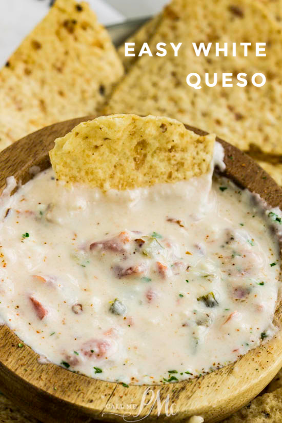 Easy White Queso Dip Call Me Pmc
