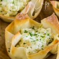 GREEN CHILE CHEESE WONTON CUPS