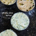 Parsley Chive Butter. Fresh basil and minced garlic cloves make delicious compound butter.