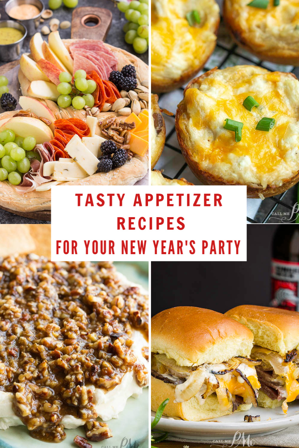 Tasty Appetizers for your New Year's Party that are guaranteed to please a crowd. #recipes #roundup #appetizers #newyears #party via @pmctunejones