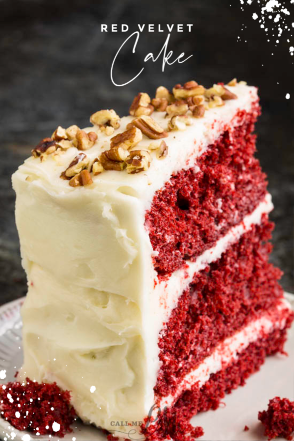 Red Velvet Layer Cake Recipe, this classic cake is moist, buttery, tender, and boldly red. #cake #dessert #recipe #redvelvet #southernfood #homemade #fromscratch #easy #layercake #Christmascake #ValentinesDay #creamcheesefrosting #celebration via @pmctunejones