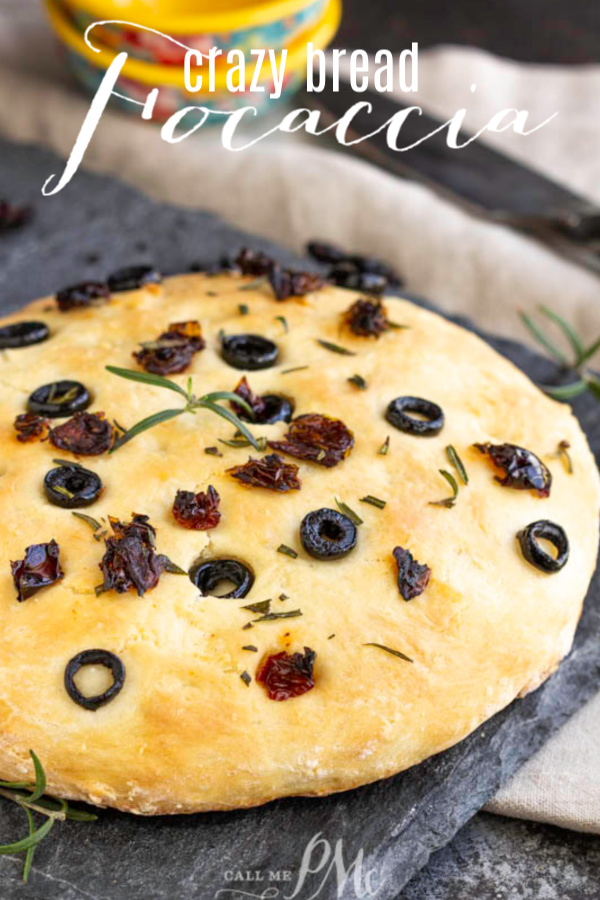 Crazy Bread Dough Focaccia is bread made from a basic yeast dough that can also be used to make many different kinds of bread. #bread #recipe #dough #crazybread #easy