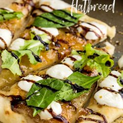 Sweet and savory, Figgy Flatbread Recipe is an appetizer for any season. This is a winning combination! #flatbread #fig #mozzarella #cheese #easy #recipe #callmepmc #lunch #appetizer