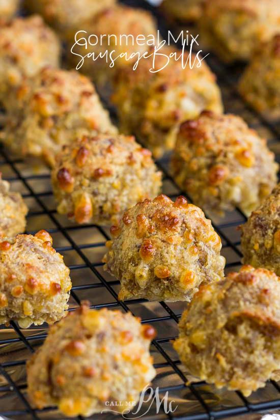 Jiffy Cornmeal Sausage Balls