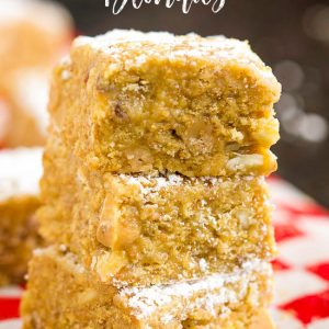 Graham Cracker Blondies are a no-bake dessert bar that's delicious and easy to make.  #nobake #nocook #dessert #recipe #bars #grahamcrackers #easy