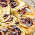 NO YEAST BLUEBERRY CINNAMON ROLLS