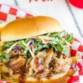 BRAISED PULLED PORK SANDWICHES WITH KALE SLAW