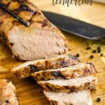 Dill Pickle Brined Grilled Pork is the juiciest, tender, and best pork tenderloin I've ever had! Pickle juice marinade recipe. How long to brine. #brine #pork #grilling #recipe #recipeoftheday #pickle #dillpickle