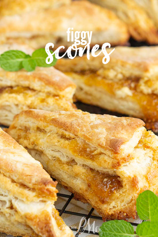 Perfectly buttery and subtly sweet, Fig Scones are a delicious way to start the day. Layers of flaky dough and fig jam offer a savory and slightly sweet combination. #scones #biscuits #bread #recipe #breakfast #brunch #pineapple #coconut #baked #baking via @pmctunejones
