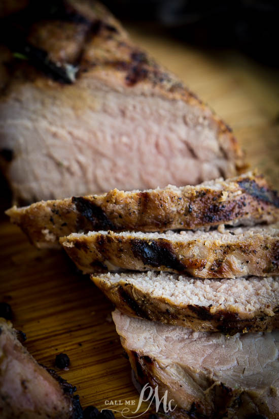 Flavorful and moist, Rosemary Pork Tenderloin recipe is melt-in-your-mouth-tender and bursting with flavor.Pineapple soy sauce marinade. #pork #tenderloin #porktenderloin #rosemary #soysauce #pineapple via @pmctunejones