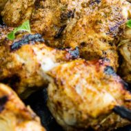 GRILLED CHICKEN SHAWARMA SKEWERS