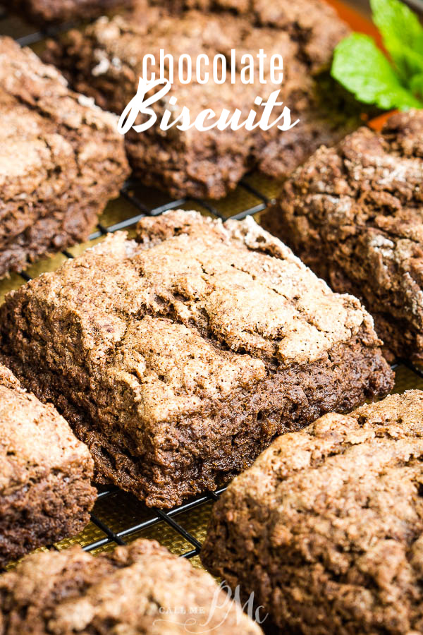 Rich with chocolate, but not too sweet, this Chocolate Biscuits Recipe produces a wonderful morning treat that is pretty easy to make. #chocolate #biscuits #scones #breakfast #cocoa #recipe via @pmctunejones