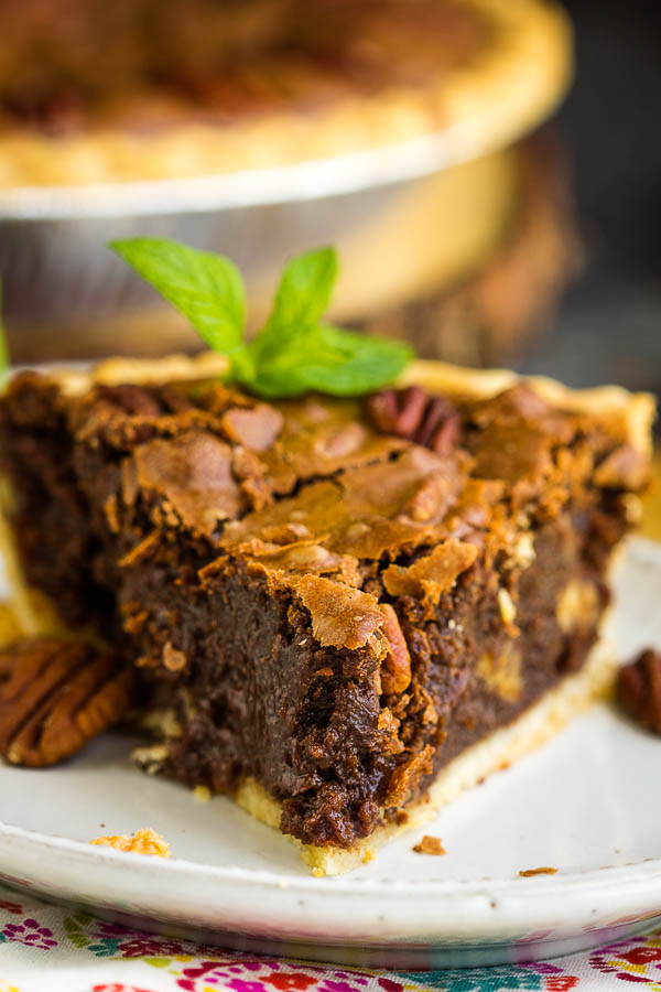Chocolate Pie with pecans
