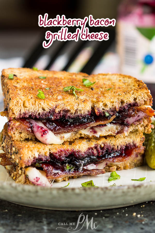 You can whip this Blackberry Bacon Grilled Cheese together in just a few minutes and it tastes like heaven! The after school snack just turned gourmet and I couldn't be happier! via @pmctunejones