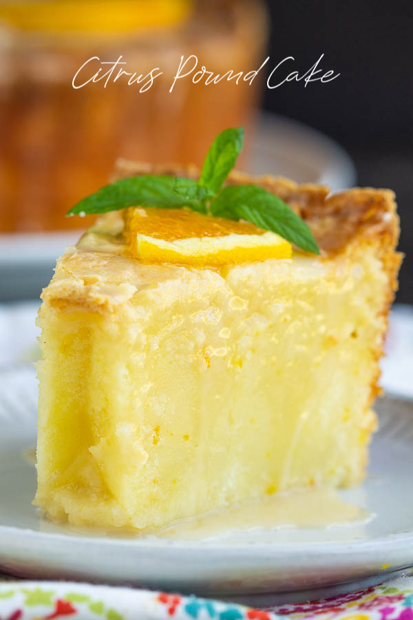 Whip up this super tasty glazed Citrus Pound Cake to make the most of the citrus season! It is soft, moist, and bright with a tender, dense, melt-in-the-mouth texture. #lemon #orange #cake #poundcake #poundcakepaula #dessert #recipe #moist #paula #homemade #bundt via @pmctunejones
