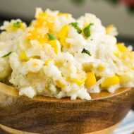 GREEN CHILE CHEESE RICE CASSEROLE