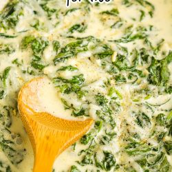 keto creamed spinach for two