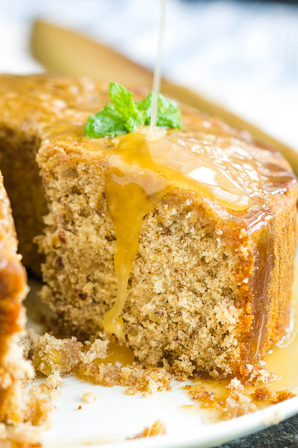 Ideal for fall, Fig Preserve Pound Cake Recipe has beautiful warm flavors from fig preserves and spices #cake #poundcake #poundcakepaula #dessert #recipe #homemade #fromscratch #fig #preserves