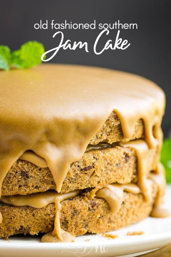 Best Southern Layered Jam Cake is a rich and robust celebration cake made with blackberry jam and warm spices. #cake #baking #baked #recipe #layercake #spicecake #jamcake #Southernfood #Southern #southernrecipe #oldfashioned #moist #easy