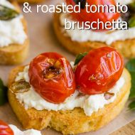 WHIPPED RICOTTA AND BLISTERED TOMATO BRUSCHETTA