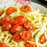 Blistered Tomato Ricotta Pasta Recipe is easy to make, has simple ingredients, has ridiculously amazing flavors, and takes minutes to make! #tomato #pasta #recipe #blisteredtomato #easy