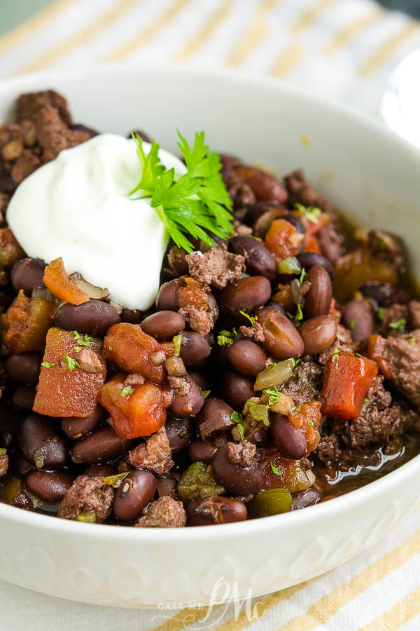 Cuban Black Beans and Sausage, if you have a large family or crowd to feed, need a budget-friendly meal, or like to use pantry staples, #recipe #slowcooker #oven #blackbeans #driedblackbeans #sausage #easy #stew #soup #TexMex