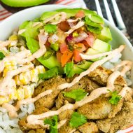 FAJITA CHICKEN BOWL RECIPE