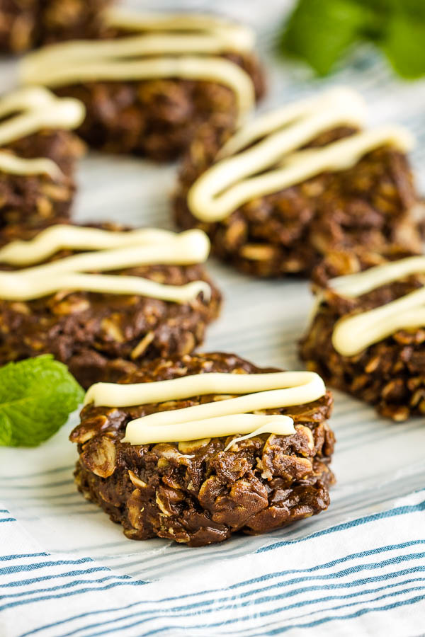 Healthy No-Bake Chocolate Peanut Butter Oatmeal Cookies, a healthier version than the original, this recipe is the perfect healthy, no sugar, pantry staple recipe when you want a sweet treat. #healthy #cookies #chocolate #oats #oatmeal #recipe #dessert #healthyrecipe #healthyliving #peanutbutter
