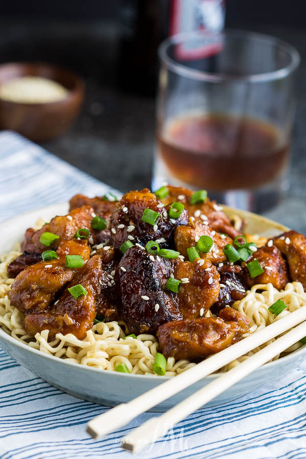 My at-home recipe of Crock Pot General Tso Chicken is just as delicious, healthier, and easy slow cooker dinner. #chicken #Asian #Chinese #recipe #generaltso #slowcooker #crockpot #easy #dinner