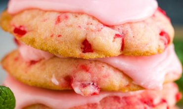 FROSTED AMISH CHERRY SUGAR COOKIES