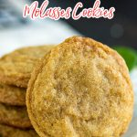 Old Fashioned Molasses Cookies are bursting with rich, warm flavor from molasses, cloves, ginger, and cinnamon. The perfect cookie for the Holiday season! #cookie #recipe #molasses #oldfashioned #ginger #cinnamon #Christmas #christmascookies #cookietry #cookieexchange