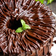 SOUR CREAM DARK CHOCOLATE POUND CAKE