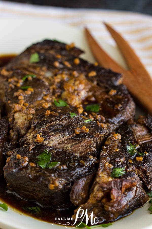 Slow Cooker Caribbean Pot Roast recipe - easy & short prep time. This economical cut of beef is transformed to tender, flavorful, hearty meal. #roast #beef #slowcooker #easy #caribbean