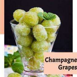 Boozy, sweet, festive, fun, Sugar Champagne Grapes is a tasty treat for any celebration. aka Drunken or Boozy grapes. Prosecco, rum, tequila #booze #grapes #champagne #recipe #callmepmc