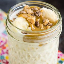 Peanut Butter Banana Overnight Oats are packed with peanut butter, banana, milk, & oats. Recipe is easy, healthy, and taste delicious!