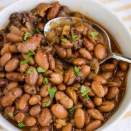 SLOW COOKER PINTO BEANS AND SAUSAGE