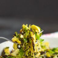 CARAMELIZED SHAVED BRUSSELS SPROUTS