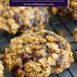 Healthy Breakfast Cookie Recipe is a wholesome, hearty, easy recipe that's great for on-the-go mornings are afternoon pick-me-ups. #breakfast #easy #healthy #oats #raisins #craisins #cranberries #almondbutter #recipes #callmepmc
