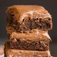 CHOCOLATE CREAM CHEESE FROSTED BROWNIES
