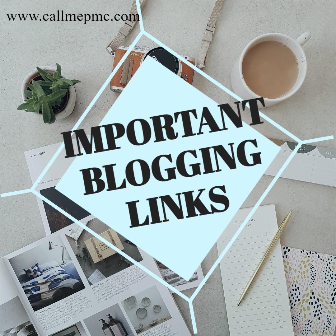 Important Blogging Links