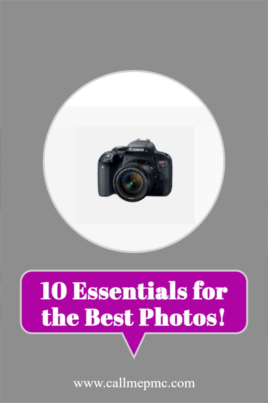 10 Essentials for Amazing Photos - Master photography so you can take amazing photos!#photography #mycamerabag #photos #foodphotography #foodblogger #recipeblogger